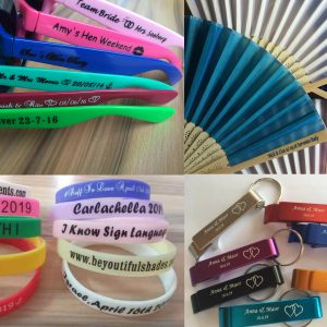sample-sunglasses-hand-fan-silicone-wristband-keychain