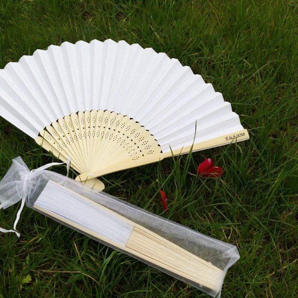 50pcs-White-Drawstring-Organza-Folding-Hand-Fan-Pouch-Party-Wedding-Favor-Gift-Bags-ABUX-2