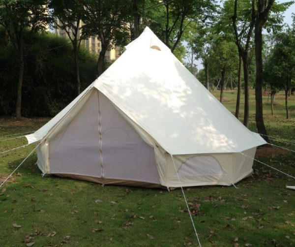 free-shipping-glamping-holiday-4m-Dia-oxford-canvas-waterproof-camping-tent-bell-tent-1
